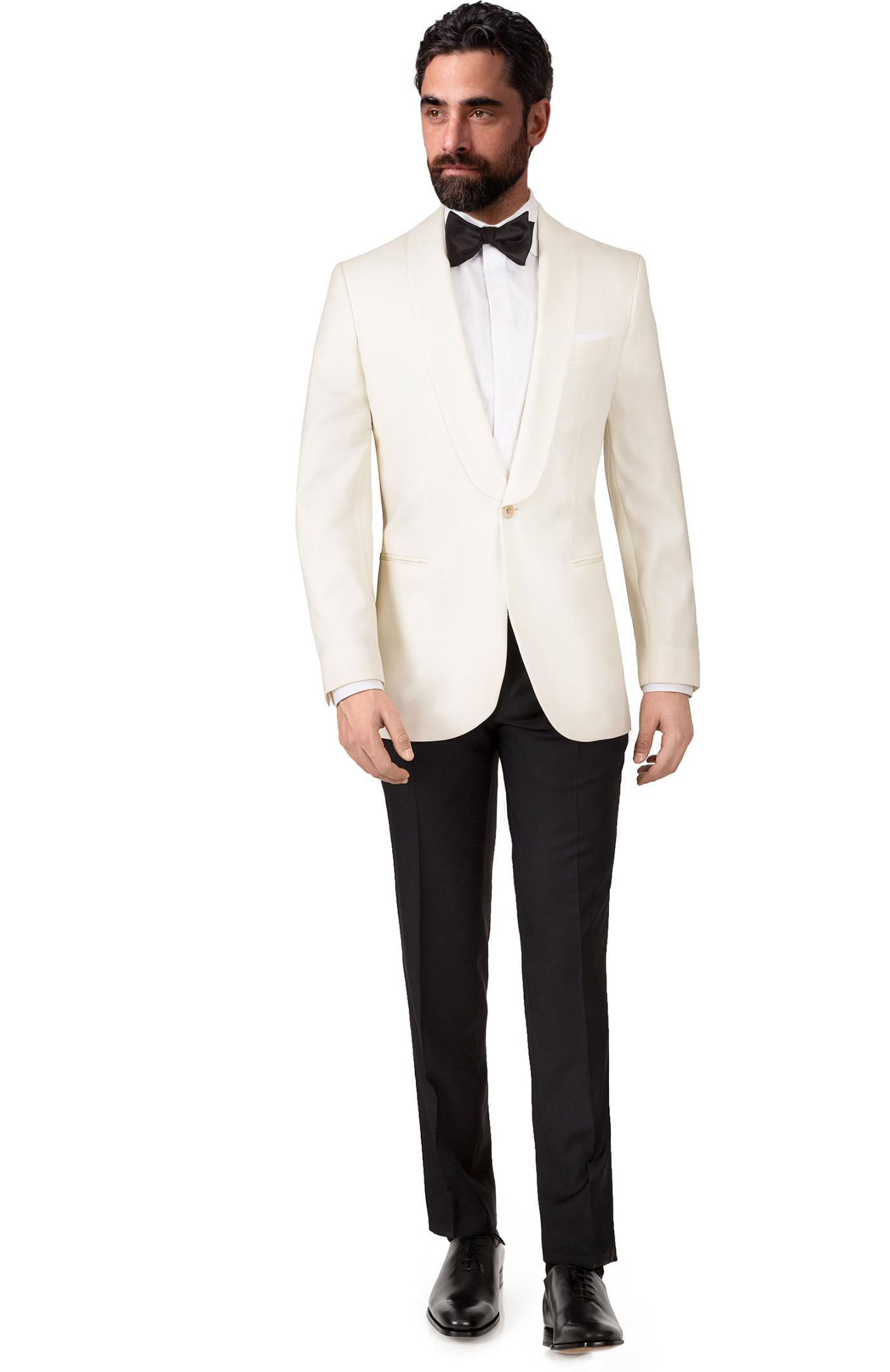 20 Piece Shawl Collar Ivory Tuxedo