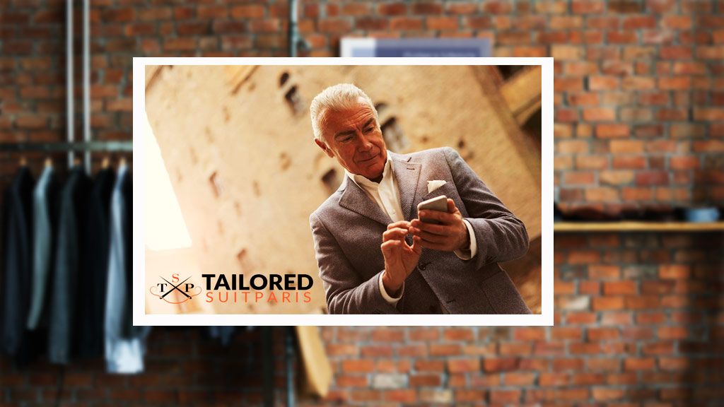 Customize a men's tailored suit from your cell phone